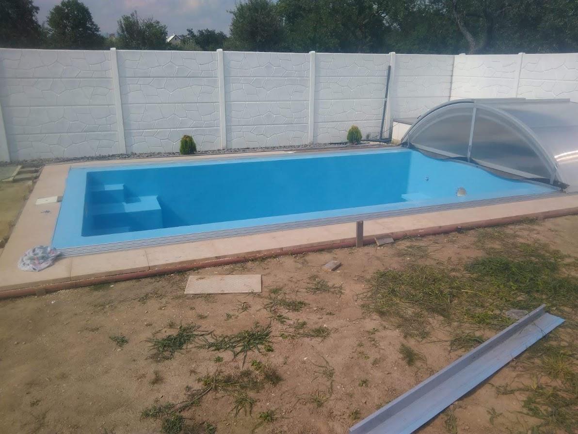 Nástřik betonového bazénu