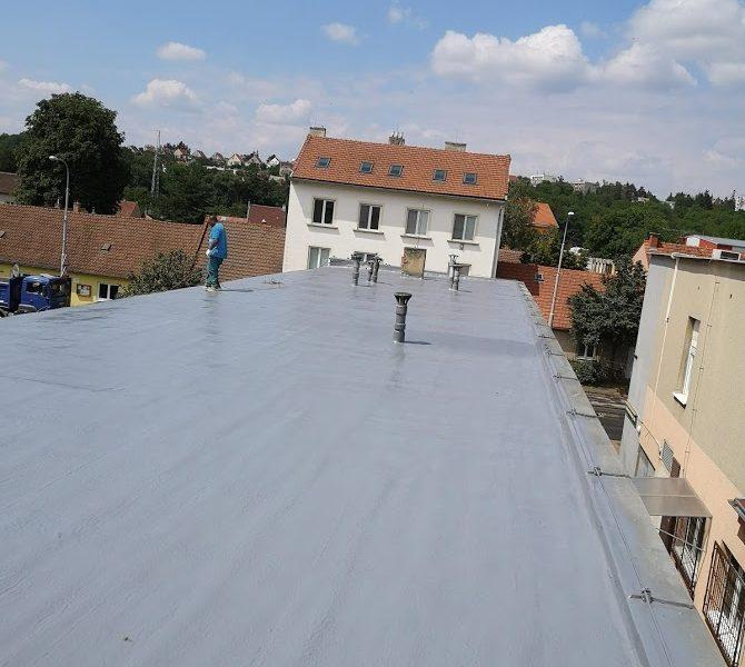 Zateplení ploché střechy, výrobní hala